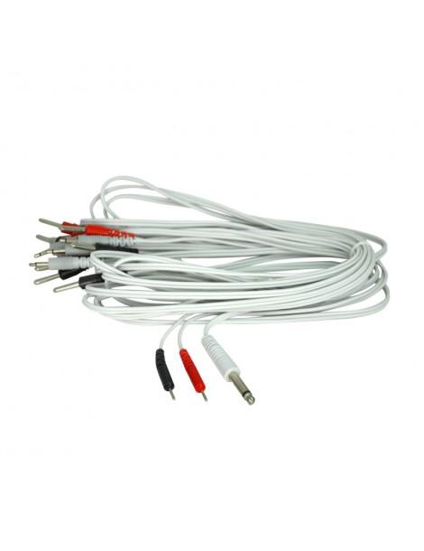 CABLE CORPORAL PLUG 6.5MM - PIN FINO 2MM X 4 UNIDADES