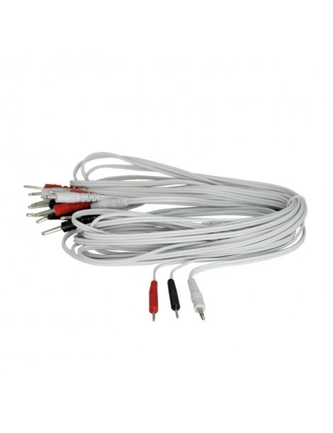 CABLE CORPORAL PLUG 3.5MM - PIN FINO 2MM X 4 UNIDADES